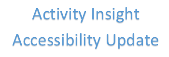 Activity Insight Accessibility Update