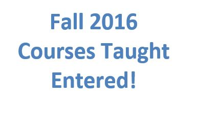 Fall 2016 Courses Entered