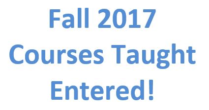 Fall 2017 Courses Entered