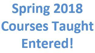 Spring 2018 Courses Entered